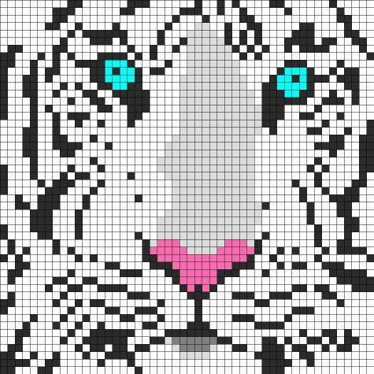 Animal Siberian tiger cross stitch.