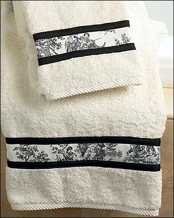 Stitch Up a New Look-Towels are necessary in any bathroom, but it doesn't mean they have to be boring. Using a straight stitch on your sewing machine, add a simple fabric border to your towels for an elegant detail that won't be missed!