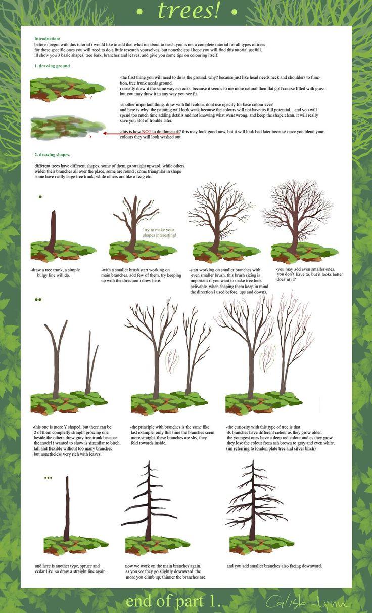 tree tutorial part 1 by ~calisto-lynn on deviantART