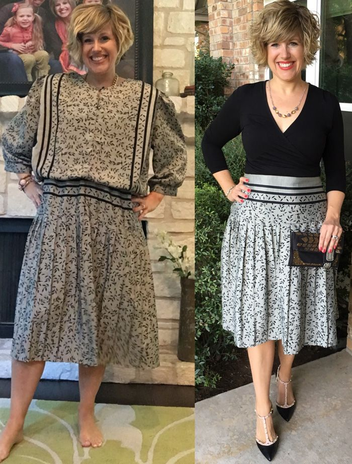 Thrifty Thursday - A Giant Refashion upcycled clothing