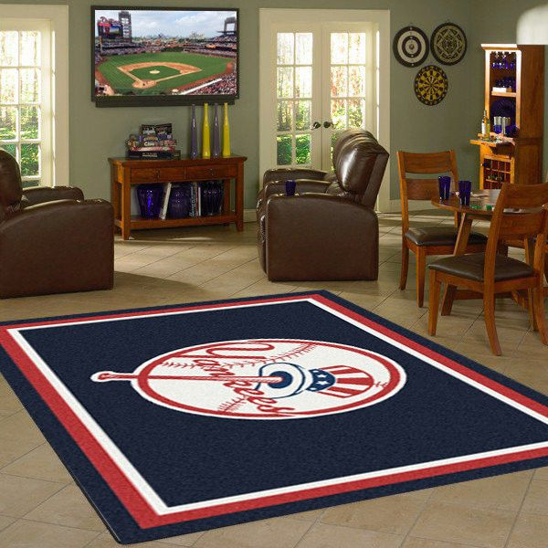 New York Yankees MLB Team Logo Spirit Rug