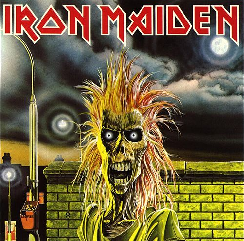 Iron Maiden: Iron Maiden 1980    The first Iron Maiden cover. Although this wasn't the first commissioned piece by Derek Riggs