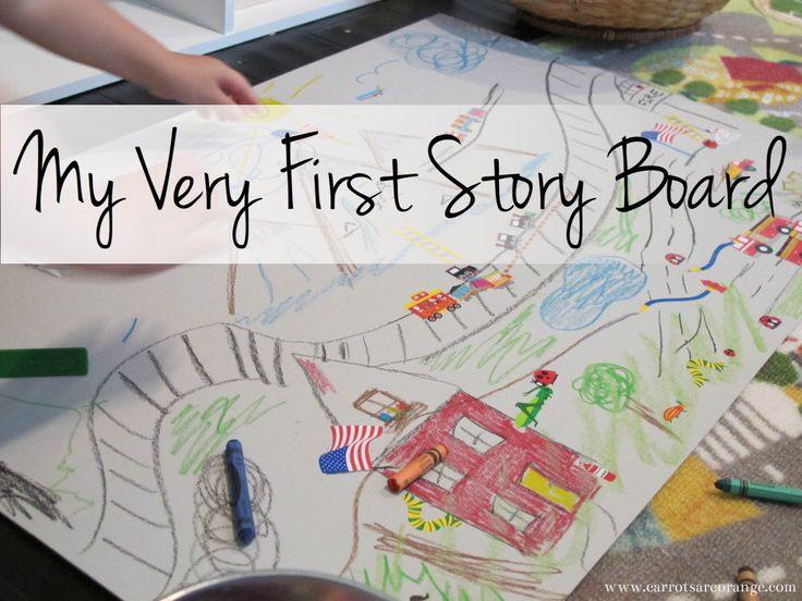 My Very First StoryBoard {Preschool StoryTelling}