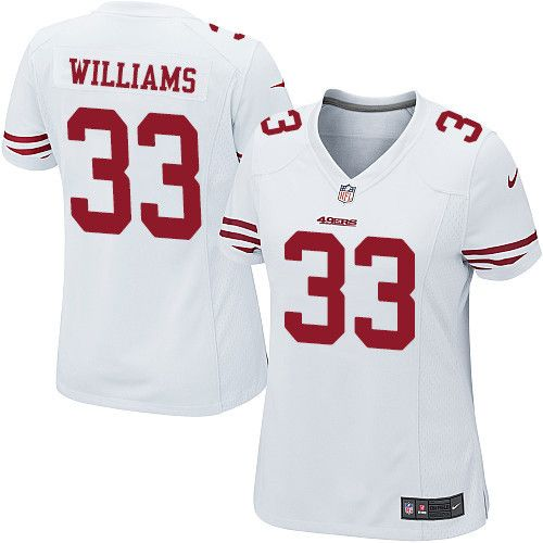 $24.99 Women's Nike San Francisco 49ers #33 Joe Williams Limited White NFL Jersey