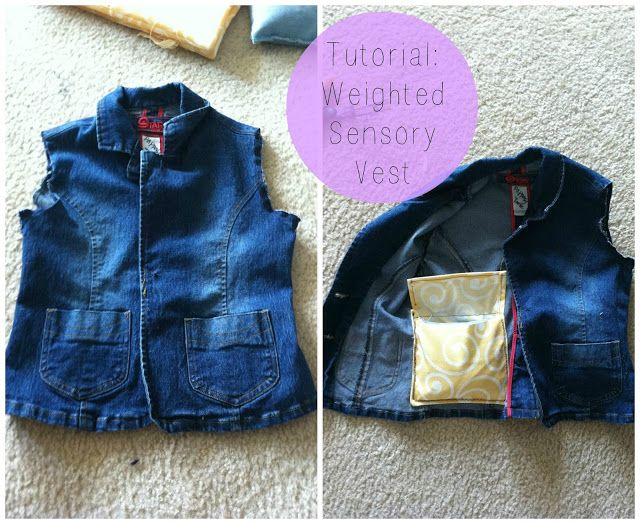 Easy DIY Weighted Sensory Vest for kids with Autism