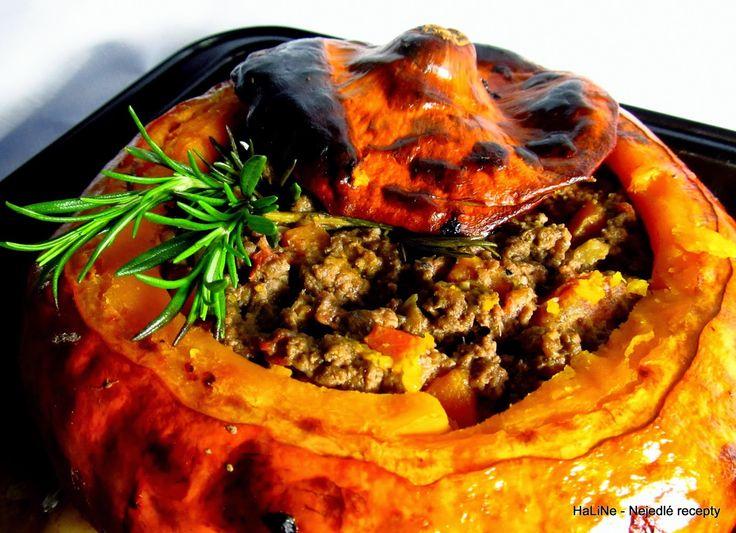 Nejedlé recepty: Pečená dýně Hokkaidó plněná mletým masem