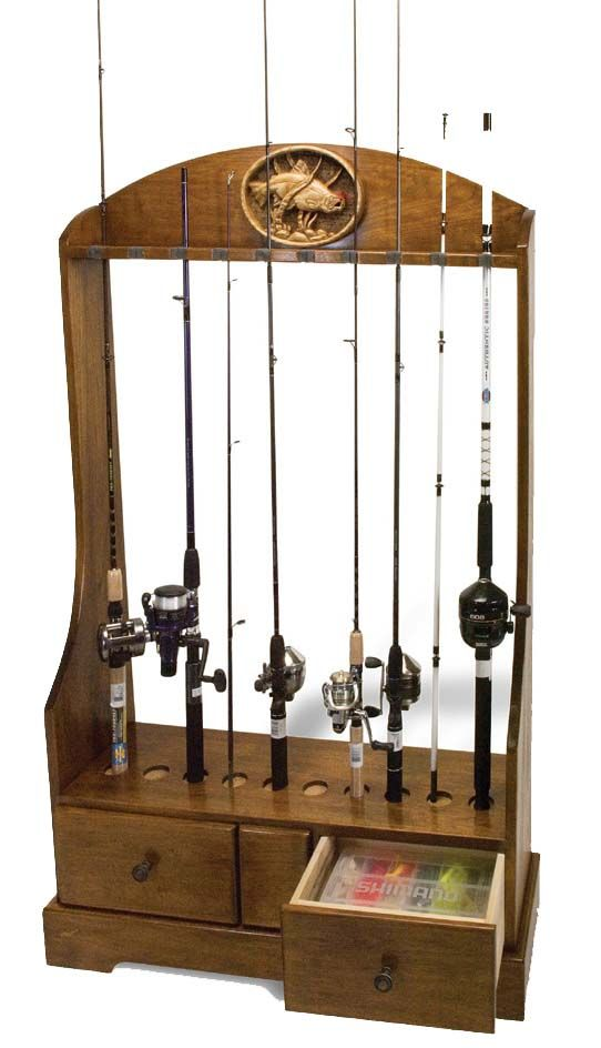 25 creative fishing rod rack ideas to discover and try on for Racks fish house