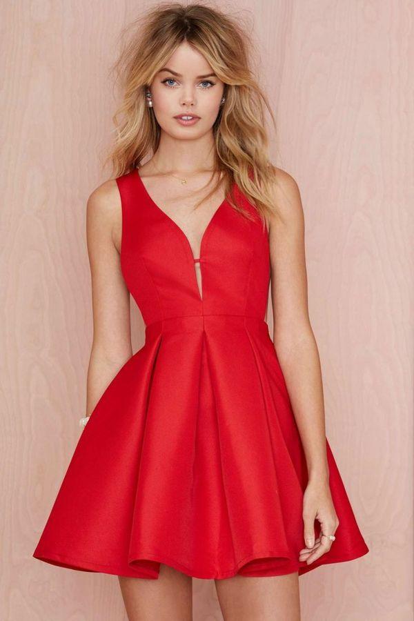 Robe rouge pour soiréе