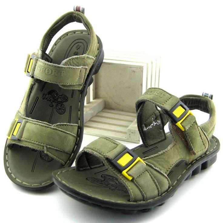 2014 summer  full grain  genuine cow leather sandals for boys  child shoes sandals kids sandales boys footwear children shoes