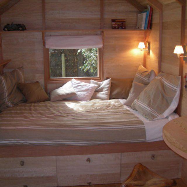 L'intérieur de la cabane