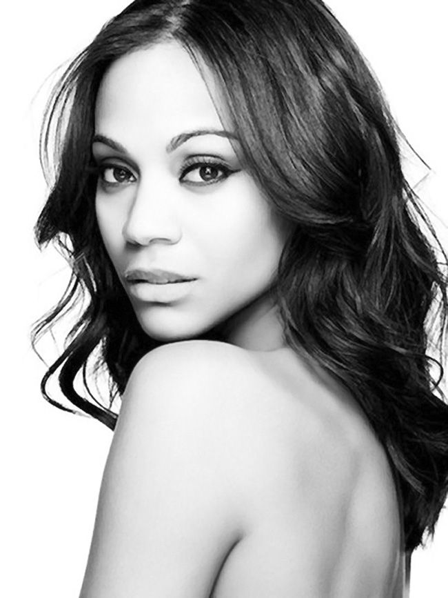 Zoe Saldana celebrity face portrait photo #headshot T: zoesaldana