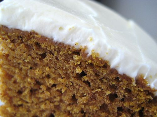 Pumpkin Spice Cake with Honey Frosting | Sweets | Pinterest