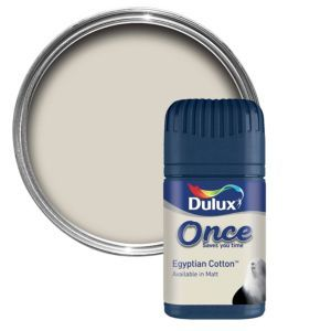 Dulux Egyptian Cotton Matt Emulsion Paint 50ml Dulux Egyptian Cotton Matt Emulsion Paint 50ml Tester Pot.This Egyptian cotton emulsion paint has been specially designed to give a stunning finish to your walls  ceilings. Simply apply one coat with http://www.MightGet.com/april-2017-1/dulux-egyptian-cotton-matt-emulsion-paint-50ml.asp