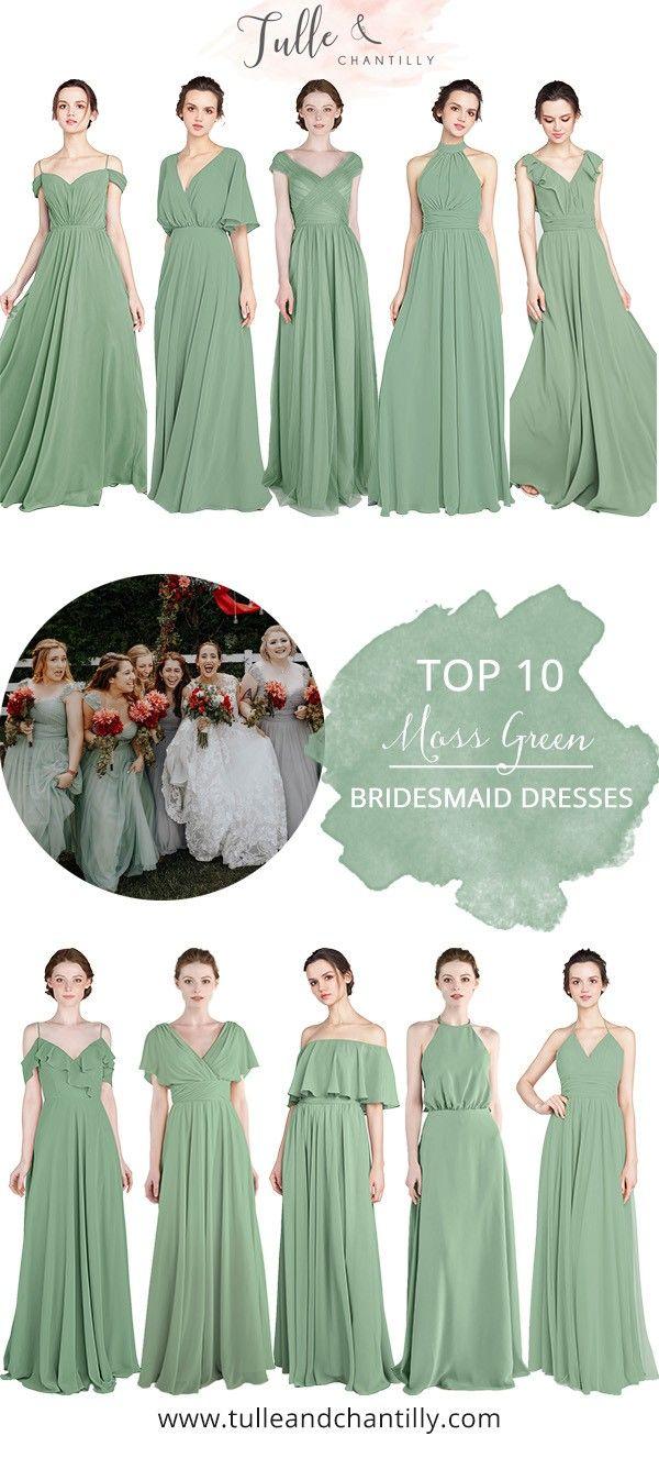 Top 10 Moss Green Bridesmaid Dresses Wedding Weddinginspiration Bridesmaids Green Bridesmaid Dresses Short Green Bridesmaid Dresses Short Bridesmaid Dresses