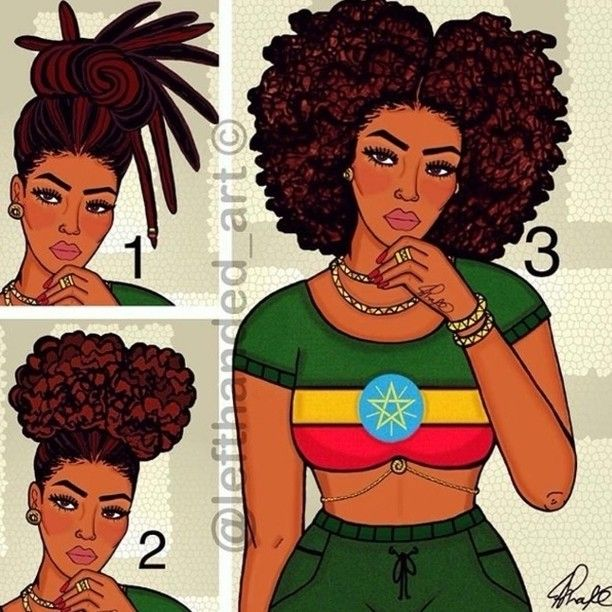 Image result for 4c hair cartoon