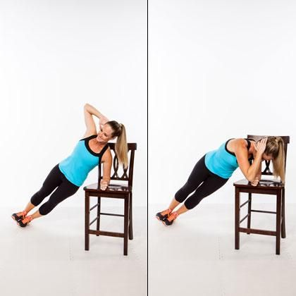 Plank variation to target the abs and obliques: Supported Side Plank Crunch