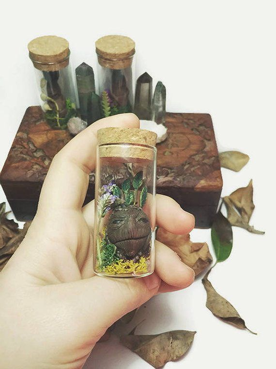 RootHarry Creature In Glass Potter BottleMandragora Mandrake R3Lc5A4jqS