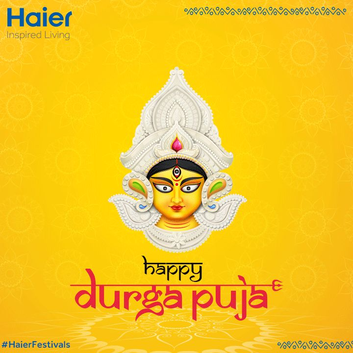 #HaierIndia wishes you a very Happy #DurgaPuja!! #HaierFestivals  #India #Festivals #IndianFestivals #Happiness #Celebrations #IncredibleIndia