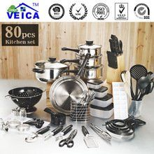 Panelas De Ceramica Arrival Fda Top Fashion Real Cookware Cooking Pots And Pans Set 80 Piece Kitchen Starter Combo Utensil #Panelas #Ceramica #Arrival #Fashion #Real #Cookware #Cooking #Pots #Pans #Piece #Kitchen #Starter #Combo #Utensil
