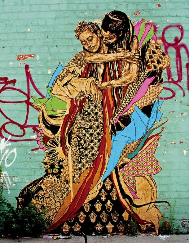 SWOON _ Outdoor _ Stencil _ New York, USA