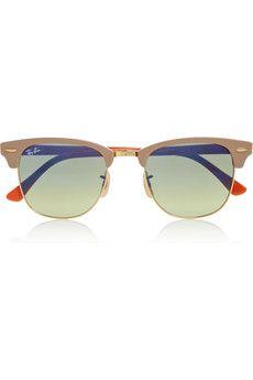 Ray-Ban   Clubmaster half-frame acetate sunglasses    NET-A-PORTER.COM