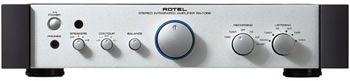 """Rotel RA 1062   6 entradas: cd, sintonizador, aux 1, fono MM, cinta 1 y cinta 2 .:. Toma de auriculares, grabación/escucha por separado, control de tono .:. Salidas previas para biamplificación .:. Salida de disparo de 12 voltios .:. Transformador toroidal, condensadores """"slit foil"""" de fabricación británica, condensadores de la red en T .:. Mando a distancia """"Rotel System"""" .:."""