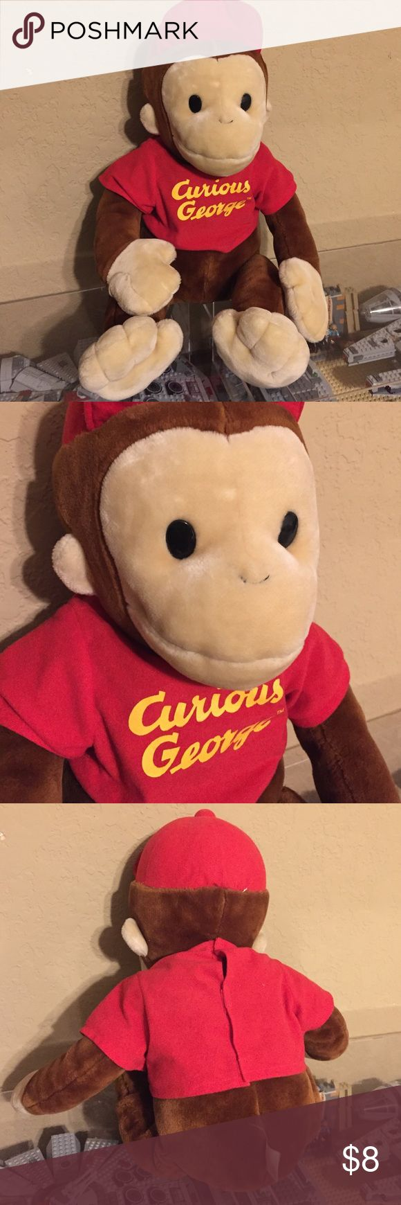 Curious George Stuffed Animal Cute for kids or adults alike measures roughly 27 inches tall curious george Other