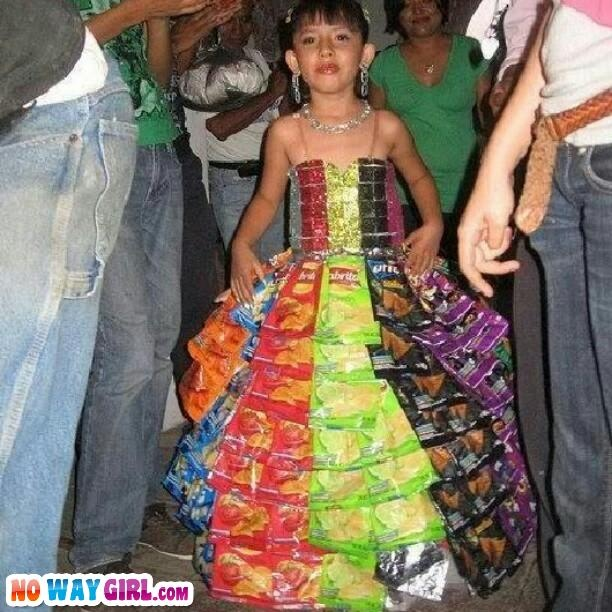 1000 images about dresses made out of chips bags on