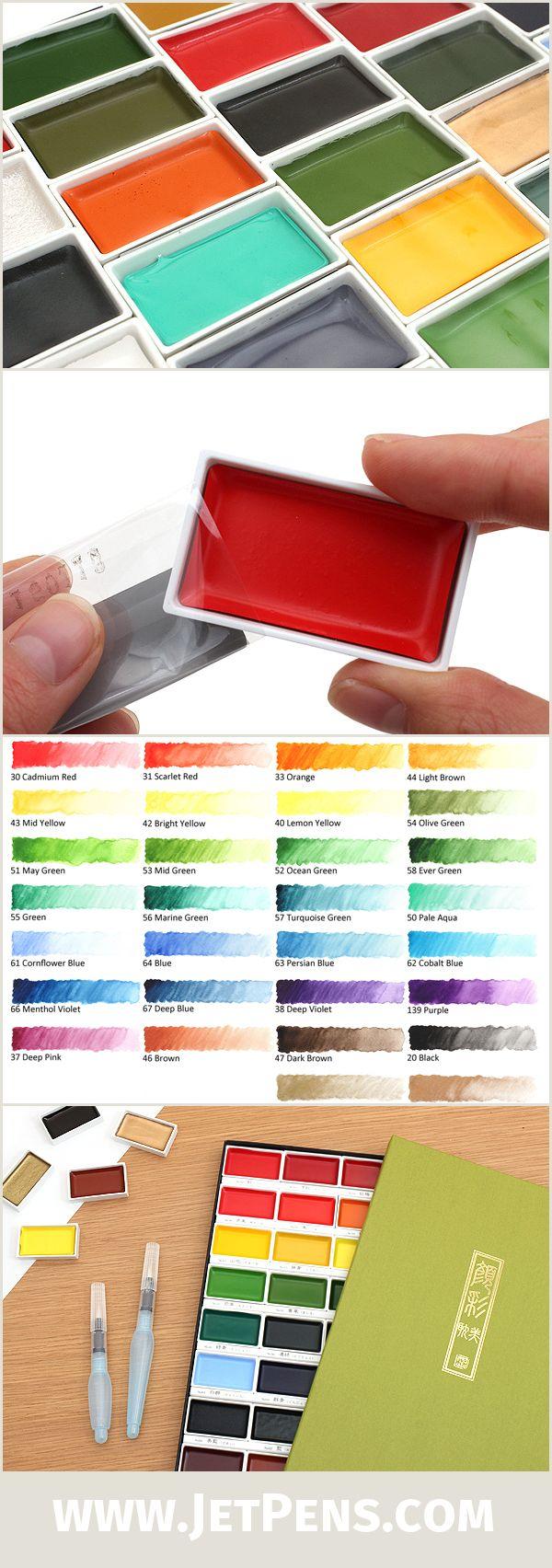 The individual pans of the Kuretake Gansai Tambi Watercolors are now available!