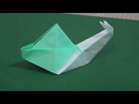 "How to make a""Land snail""歩く「かたつむり」折り紙 - YouTube"