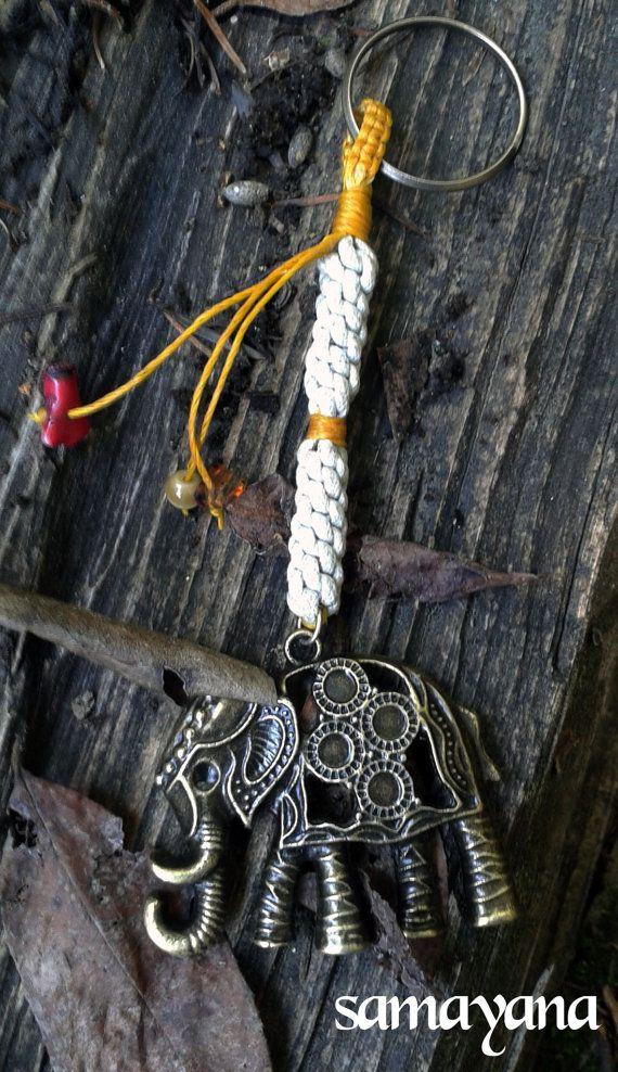 Llavero de la suerte con elefante accesorios de bolso por Samayana