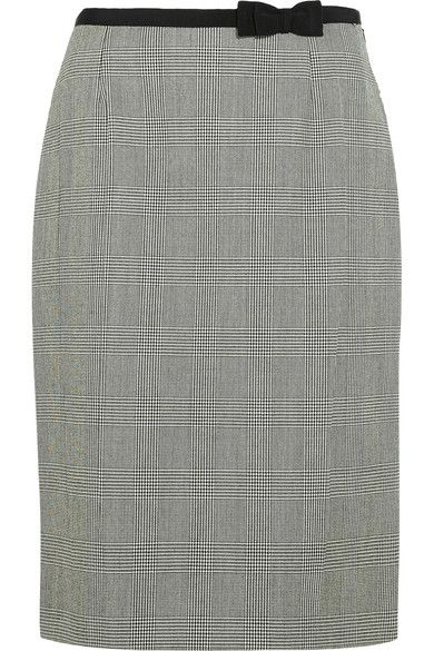 Black and white wool Concealed hook and zip fastening at side  100% wool; lining: 67% viscose, 33% silk Dry clean Made in Italy