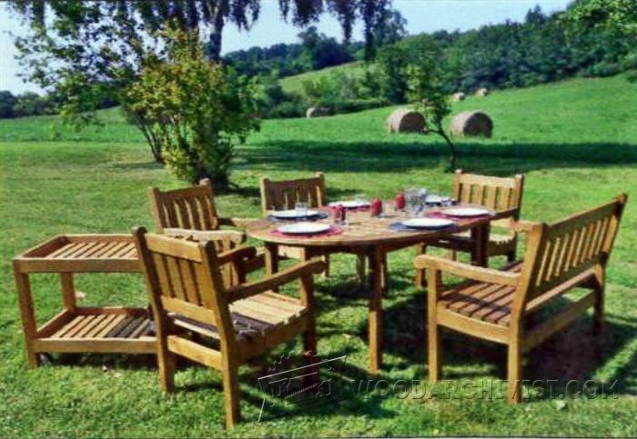 Garden Furniture Plans - Outdoor Furniture Plans and Projects | WoodArchivist.com