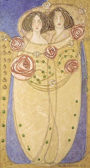 House For An Art Lover Prints ::  Gesso Panel #13 by Margaret Macdonald Mackintosh