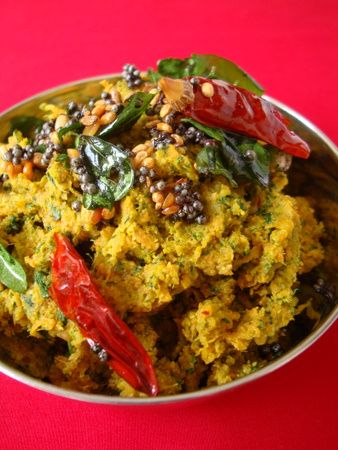 My favorite greens and vegetable - fenugreek leaves (methi) and carrot. Love the refreshing colors and flavor combination of this Indian style chutney.