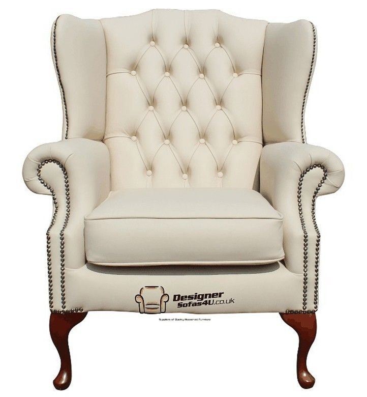 Chesterfield Mallory Flat Wing Queen Anne High Back Wing Chair Uk