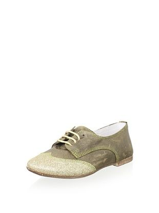 61% OFF Hoo Kid's Cheila's Oxford Boat Shoe (Olive/Gold)