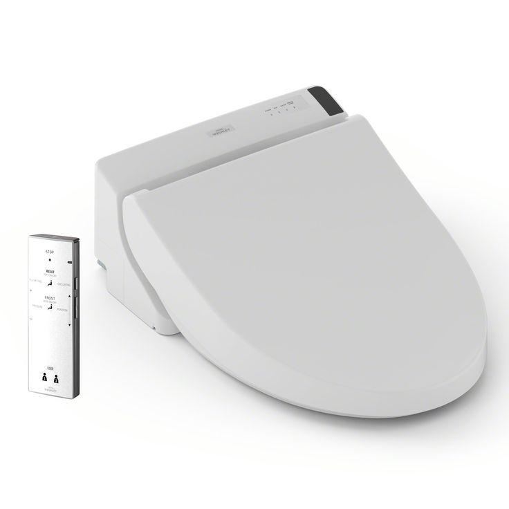 TOTO Washlet A200 Elongated Bidet Toilet Seat, Cotton White - SW2024#01