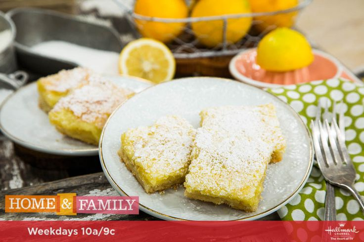 A sweet treat from Best Home Cook semi-finalist Kelley Wolf, Kelley's Famous Lemon Bars. For more tasty recipes tune in to Home & Family weekdays at 10a/9c on Hallmark Channel!