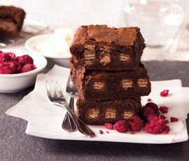 KIT KAT Brownie: A slice of this KIT KAT Dark brownie may just be the best thing since sliced bread!. http://www.bakers-corner.com.auhttps://www.bakers-corner.com.au/recipes/kit-kat/kit-kat-brownie/