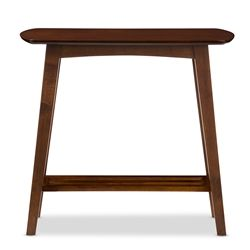 Baxton Studio Sacramento Mid-century Modern Scandinavian Style Dark Walnut Console Table Affordable modern furniture in Chicago, Classic Living Room Furniture, Modern Console Tables, Cheap Console Tables