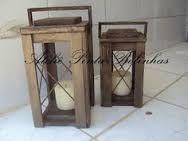 Resultado de imagem para lanternas decorativas de madeira