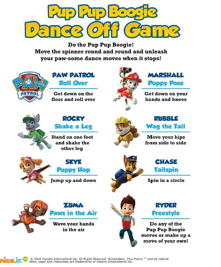3 of 4--- http://www.nickelodeonparents.com/paw-patrol-pup-pup-boogie-game/