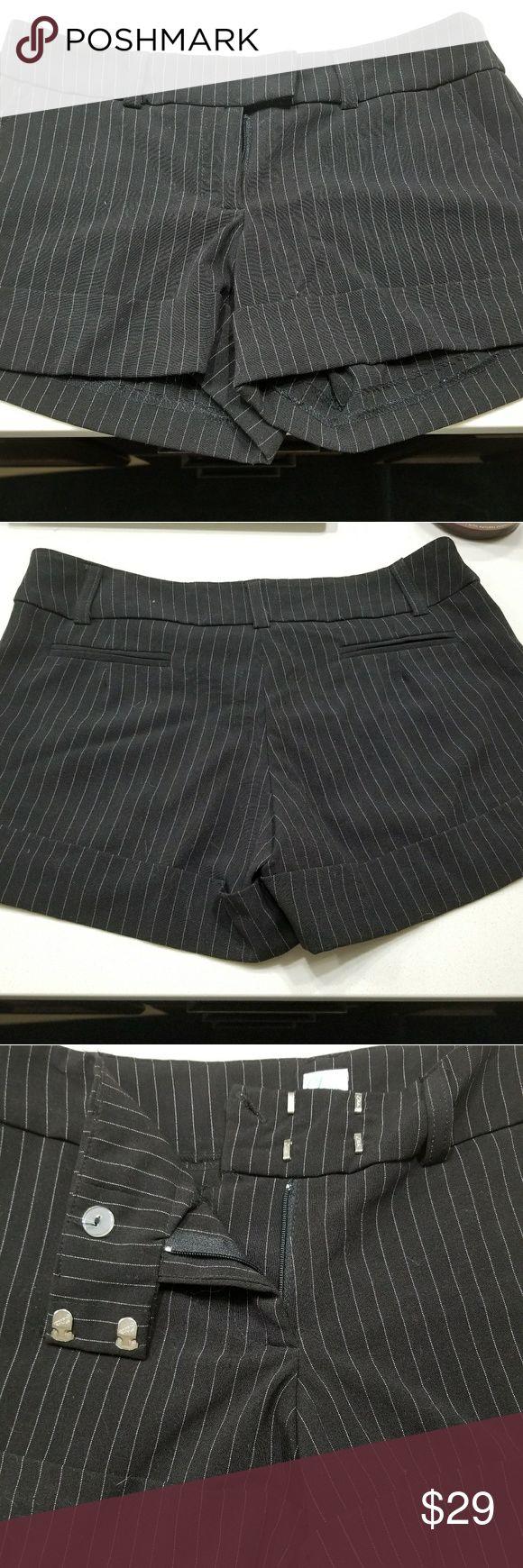 Aqua stripped shorts Black and White Stripped Aqua Women's Shorts Aqua Shorts
