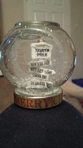 Sign snow globe. Check out Glitter Globes on Facebook.