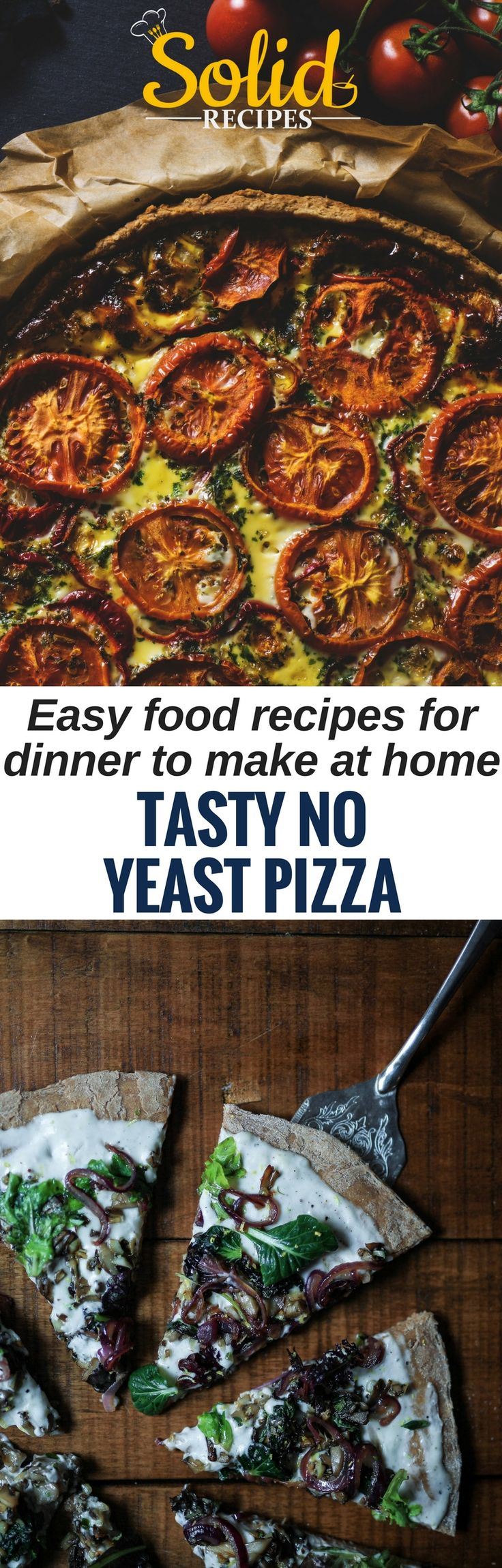 TASTY NO YEAST PIZZA – Easy food recipes for dinner to make at home Not always the photos matched the recipe. pizza dough recipe | pizza recipes | pizza dough | pizza dip | pizza sauce | Pizza Hut | California Pizza Kitchen | Pizza McPizza | Pizza, Sandwiches, Pasta & Cheesy Stuff | pizza & meatza | Pizza Recipes