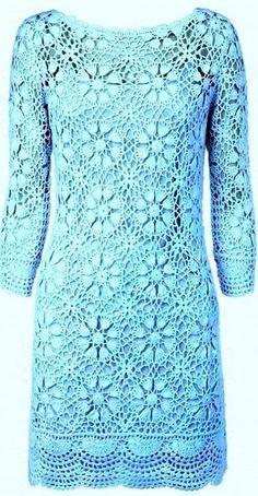 Irish crochet &: CROCHET DRESS ... ПЛАТЬЕ