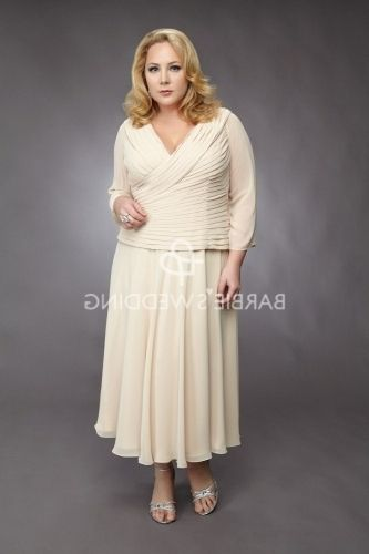 High Quality Plus Size Mother Of The Bride Dresses Tea Length