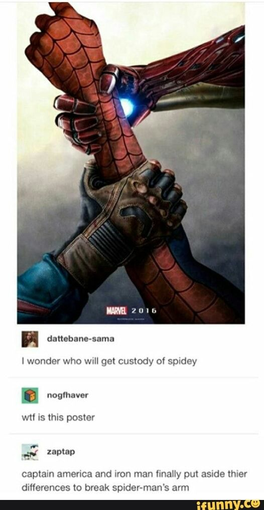 That's funny but not as good as the scene with deadpool running away with a spidey who just lost an arm