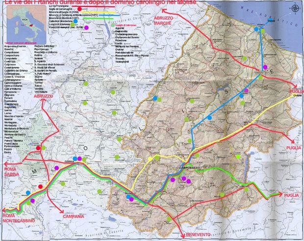 La Via Francigena nel Sud. Le strade dei Franchi nel Molise durante e dopo il dominio carolingio